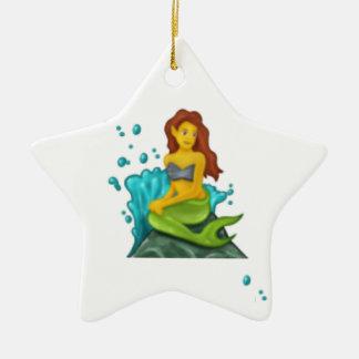 emoji Meerjungfrau Keramik Stern-Ornament