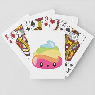 Emoji Raimbow kacken! Spielkarten