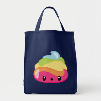 Emoji Raimbow kacken! Tragetasche