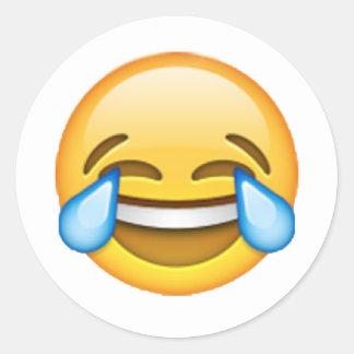 Emoji - Risse der Freude Runder Aufkleber