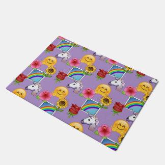 Emoji Schönheits-lila Muster Türmatte