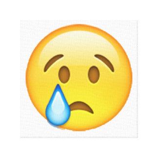 Emoji - schreiend leinwanddruck