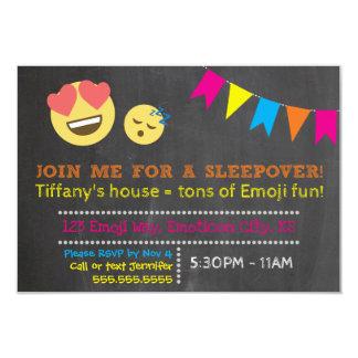 Emoji Sleepover-Party Einladung