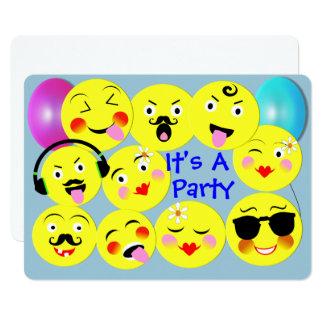 Emoji Spaß-niedliches Trendy Smiley-Party Karte