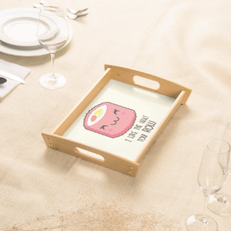 Emoji Sushi-Rolle Tablett