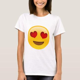 Emoji T-Paita Herz-Augen T-Shirt