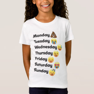 Emoji Tage des Wochen-Shirts T-Shirt