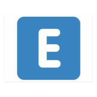 emoji Twitter - Buchstabe E Postkarte