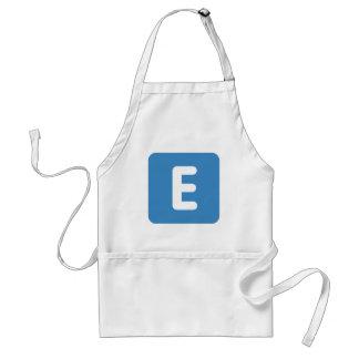 emoji Twitter - Buchstabe E Schürzen