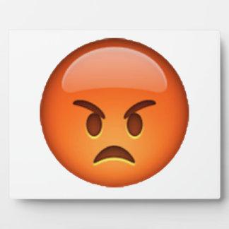 Emoji - verärgert fotoplatte