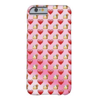 Emoji Verschluss- und Schlüssel-Liebe ombre Barely There iPhone 6 Hülle