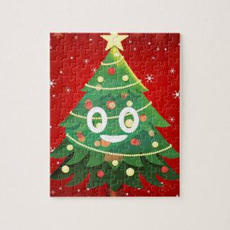 Emoji Weihnachtsbaum-Entwurf Puzzle