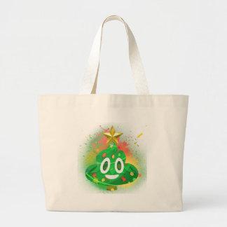 Emoji Weihnachtsbaum-Sprühfarbe Jumbo Stoffbeutel