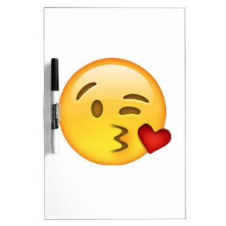 Emoji - werfender Kuss Memoboard