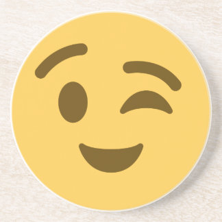 Emoji Wink Untersetzer