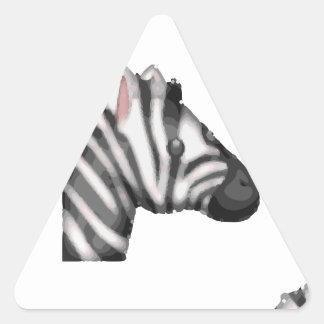 emoji Zebra Dreieckiger Aufkleber