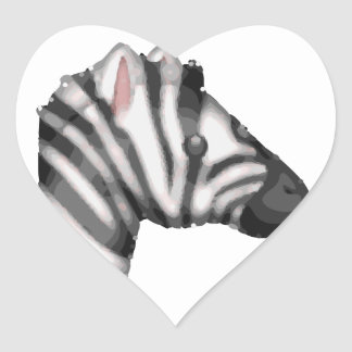 emoji Zebra Herz-Aufkleber