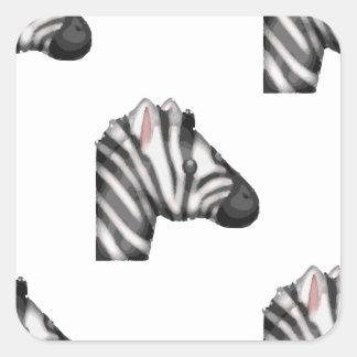 emoji Zebra Quadratischer Aufkleber