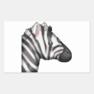 emoji Zebra Rechteckiger Aufkleber