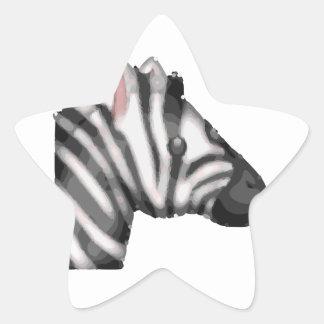 emoji Zebra Stern-Aufkleber