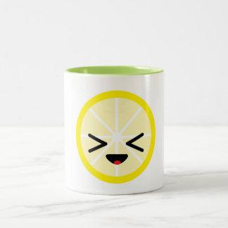 Emoji Zitronen-Tasse Zweifarbige Tasse
