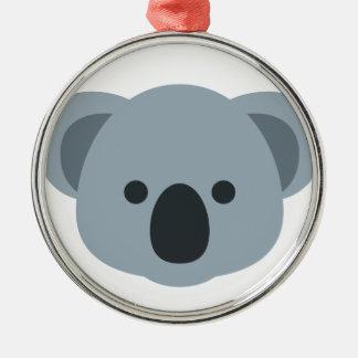EmojiKoala Silbernes Ornament