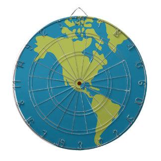 Emojis Planeten-Erdweltkontinent-Entwürfe Dartscheibe