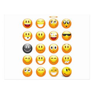 emojis postkarte