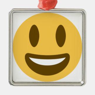 EmojiSmilie Silbernes Ornament