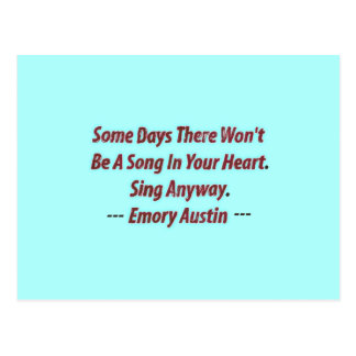 Emory Austin Inspirational, motivierend Zitat Postkarte