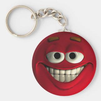 Emoticon-Rot Schlüsselanhänger