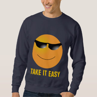 Emoticon-Sonnenbrille nimmt es einfach Sweatshirt