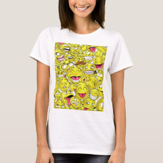 Emoticons-Frauen-Kleid T-Shirt