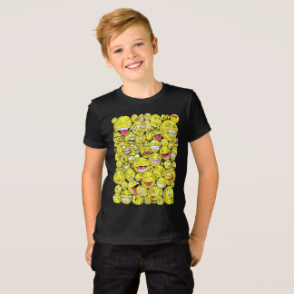 Emoticons-Kinderdunkelheits-Kleid T-Shirt