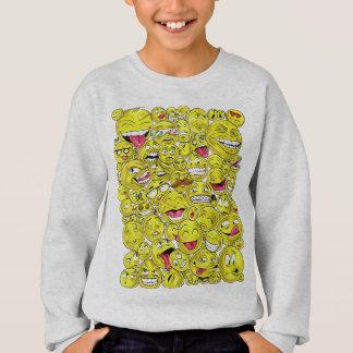 Emoticons-Strickjacke Sweatshirt