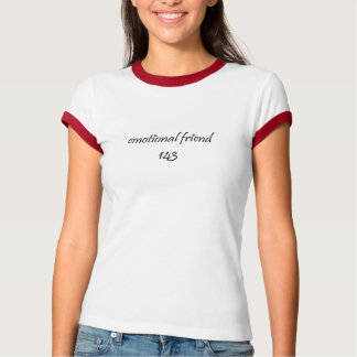 Emotionale Freund-Herzen mit i-Liebe Sie T-Shirt