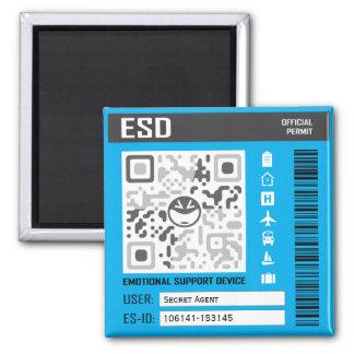 Emotionales Stützgerät-Blau Quadratischer Magnet