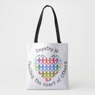 Empathie ist Gefühl das Herz von anderen Tasche