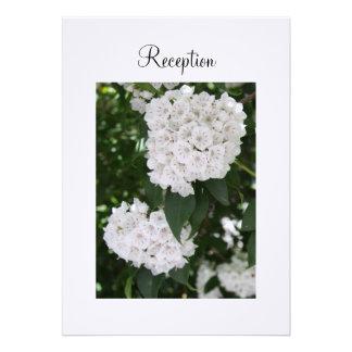 Empfangs-Einladungs-weißer Ankündigungskarten