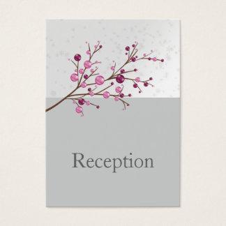 Empfangs-Karten Winter der rosa Beeren elegante Visitenkarte