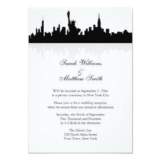 Empfangs-nur New Yorkskyline-Hochzeits-Einladung 12,7 X 17,8 Cm Einladungskarte