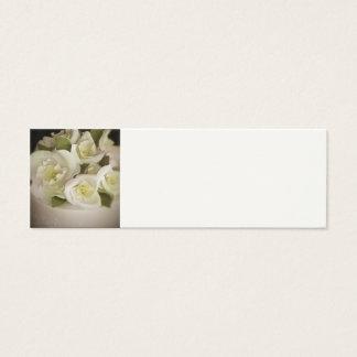 Empfangs-Platz-Einstellungs-Karten - SahneRosen Mini Visitenkarte