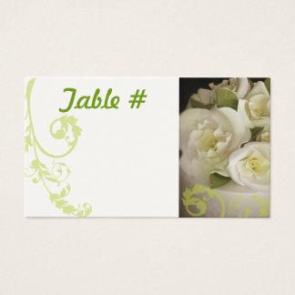 Empfangs-Tischnummer-Karten - SahneRosen Visitenkarte