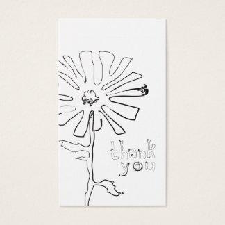 Empfehlung danken Ihnen Squiggle-Blume Visitenkarten