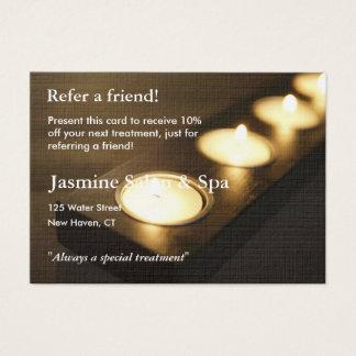 Empfehlungs-Karte mit votive Kerzen Jumbo-Visitenkarten