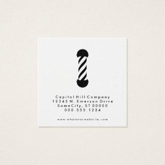 Empfehlungsfriseursalonquadrat Quadratische Visitenkarte