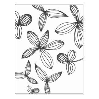 Empfindliche Blumen Postkarte