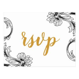 Empfindliche Blumenhochzeits-Einladungs-uAwg Postkarte