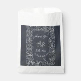 Empfindliche Blumentafel-Hochzeits-Reihe Geschenktütchen