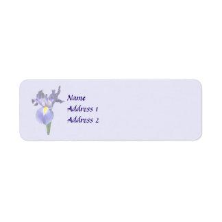 Empfindliche lila Iris-Hochzeits-Produkte